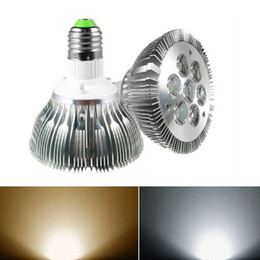 Wholesale E27 Led Lamp White - MOQ100 7W Par30 LED Par Light Spot Lamp E27 Dimmable AC 110V 220V 85-265V with 7leds Downlight Warm white Natural white Cool white CE ROSH