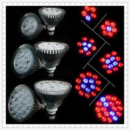 Wholesale Hydroponics Grow Systems - Full Spectrum LED Grow Lights 21W 27W 36W 45W 54W E27 LED Grow Lamp PAR 38 30 Bulb For Flower Plant Hydroponics System Grow Box Spotlight