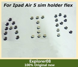 Wholesale Ipad Sim Card Reader - 3.18 SIM Card Holder Card Tray socket reader connector flex cables for Apple Ipad Air 5 air sim Holder 100% Original new By Free Shipping