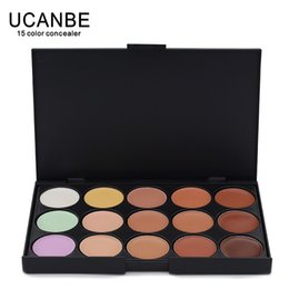 Маскирующий маскирующий макияж онлайн-Wholesale- Wholesale New Professional 15 Color face Concealer palette  Camouflage Make up Neutral Palettes set