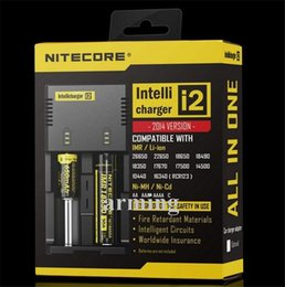 Wholesale Anti Counterfeit - Original Nitecore Intellicharger I2 Universal Charger for 18650 14500 16340 26650 Battery E Cigarette Multi Function with anti-counterfeit l