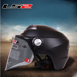 Wholesale New Helmet Summer - 2015 new LS2 summer half face ls2 OF128 Motorcycle helmet Electric bicycle helmets Adjustable size Made of ABS for Men and women