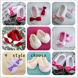 Wholesale Crochet White Baby Booties - 10% off 2015 hot sale 9 style,Baby Girl Booties, Crochet Baby Booties, Baby Girl Shoes, Slippers,hot sale baby Toddler shoes,3pairs 6pcs