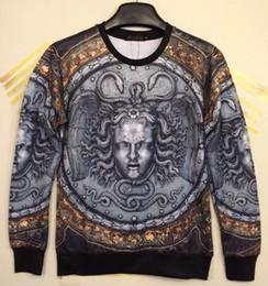 Wholesale Vintage Sweatshirts - 2014 New Fashion for Men Women 3D Hoodies print Retro vintage Medusa 3d sweatshirts SWT94