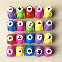 Wholesale Craft Flower Punches - Mini Scrapbook Punches Handmade Cutter Card Craft Calico Printing Flower Paper Craft Punch Hole Puncher Shape DIY Tool ZA5349