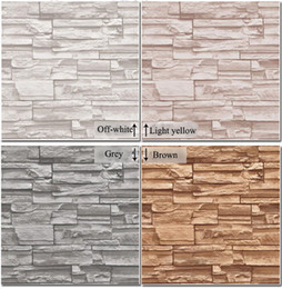 Wholesale Modern D three dimensional design wallpaper roll stone brick background wall vinyl wall paper living room wallcovering W025