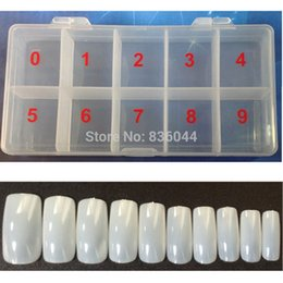 Wholesale Fake Color French Nails - Wholesale- 1 Box + 500pcs Tips Natural Color Full Cover Fake False French Nail Art Artificial Acrylic Gel UV Manicure Set NEW