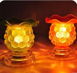 Canada Diffuseurs d'huiles essentielles lampe de parfum en verre branché four à induction aromathérapie huiles brûleur d'encens machine avec bouchon cheap aromatherapy glass diffusers Offre