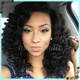 Wholesale Short Kinky Straight Wigs - 8A Glueless Full Lace Wig Curly Human Hair Brazilian Virgin Full Lace Kinky Curly Human Hair Wigs For Black Women Free Shipping