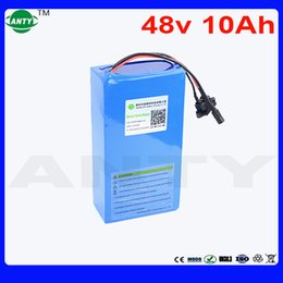 Wholesale Electric Scooter Bike Motor - E-Bike Battery 48V 10Ah Built-in 15A BMS For Electric Bike Motor 720W Scooter Lithium Battery 48V With 2A Charger 18650 Battery