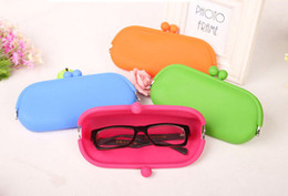Wholesale Candy Soft Silicone Purse - Hot selling Waterproof Silicone Key Coin Purses Wallet Rubber Wallets Bag Candy colors Pouch Soft Eyeglasses Bag Glasses Case 500pcs