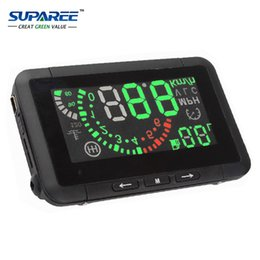 Wholesale Head Play - Wholesale-LED Car HUD Head Up Display With OBD2 Interface Plug & Play Speeding Warn System