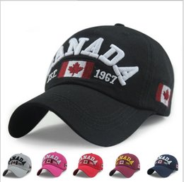 Wholesale Mens Canada - Designer CANADA Letter Flag Embroidery Toronto Curved Baseball Caps For Adults Mens Womens Adjustable Strapbacks Summer Hats Sports Visors