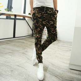Wholesale Boys Tracksuit Bottoms - Wholesale-Camo tracksuit bottoms military uniform tracksuit pants men slacks harem sweatpants outdoor boys emoji joggers green blue m-2xl