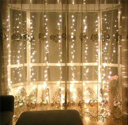Wholesale Flash Xmas Cards - Wedding Decoration light 3Mx3M 300leds led curtain string fairy light 300 bulb Xmas Christmas Wedding home garden party decoration