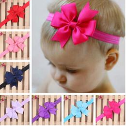 Wholesale Ribbon Style Headband Bow - Children Hair Accessories Children Hair Ribbon Dovetail Bow Headband 20 style