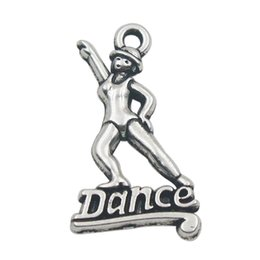 Wholesale Dancer Jewelry - 50pcs Jewelry Findings Vintage Dancer Dance Alloy Charms 15*26mm AAC949