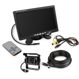 "Wholesale Rear Backup Camera Kit - 12V Reverse CCD Camera car 7"" Rear View Monitor Caravan Backup Kit 4pin System"