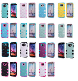 Wholesale Diamond Case Lg - Bling Diamond Star 3 in 1 TPU Rubber + Hard Plastic Case Cover For Apple iPod Touch 5 iPhone 4 5S 5C 6 Plus Samsung Galaxy S5 S6 Edge