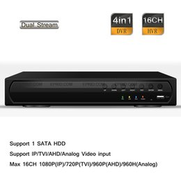 Wholesale 16ch Cctv Hybrid Dvr - 16CH 1080P NVR 720P TVR 960P AVR 960H Hybrid DVR CCTV 4in1 Security Recorder