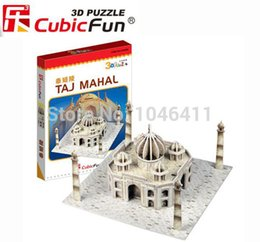 Wholesale 3d puzzle cubicfun - Wholesale-Taj Mahal CubicFun 3D educational puzzle Paper & EPS Model Papercraft Home Adornment for christmas gift