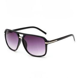 Wholesale Cheap Womens Sunglasses - Cheap Pilot Sunglasses For Men   Women Double Bridge Plastic Square Frame UV400 Lens Vintage Mens   Womens Glasses Eyewear