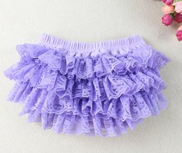 Wholesale Solid Color Cloth Diapers - Posh cloth diapers Lavender Ruffle Bloomer Soft Cotton Baby Bloomer With Lace Ruffle Free Shipping 3pcs lot