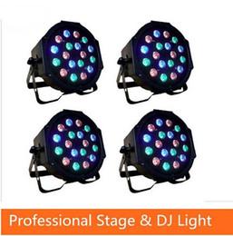 Wholesale 18 Led Blue Strobe Light - Free shipping 18*3W Led Stage Light High Power RGB Professional Par Wedd Stage&DJ Lighting DMX512 Master-Slave Led Flat
