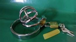 produtos de cavalo de aço Desconto Mais recente Projeto Super Pequeno Aço Inoxidável Masculino Galo Penis Gaiola Dispositivo de Cinto de Castidade A506 anel Peniano BDSM Sex toys