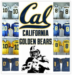 Wholesale Desean Jackson - NEW NCAA California Golden Bears College Marshawn Lynch 10 Aaron Rodgers 8 17 DeSean Jackson 1 2017 STITCHED JERSEY FOOTBALL
