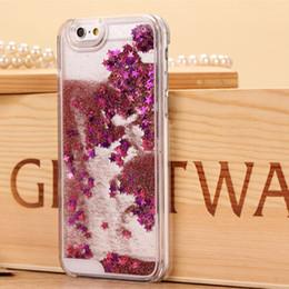 Wholesale Flow Clear - Sparkle Glitter Star Flowing Liquid Quicksand Case For iPhone 5 5s 6 6 plus 6s 6s plus Transparent Clear Back Case