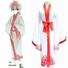 Wholesale Japan Style Kimono - Anime Hoozuki no Reitetsu Cosplay Japan style Goldfish Grass Kimono Unisex Snapdragon Robe with Belt Uniform Halloween Costume