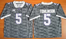 Wholesale Embroidery Sports Jerseys - New Arrival American Football college stitched mens sports new Jerseys 2016 LaDainian Tomlinson #5 TCU Horned Frogs embroidery size S-XXXL