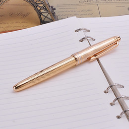 Wholesale Nice Friends - Nice Engraved Design Gold Silver MB Rollerball Pen Black Ink Medium Refill Signature Pens High-end Xmas Gift for Friends and Family