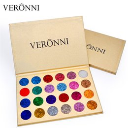 Wholesale Eyeshadow 24 Colors - In Stock Brand VERONNI Professional Beauty Cosmetics Easy To Wear Eye Shadow 24 Colors Makeup Glitter Eyeshadow Palettes