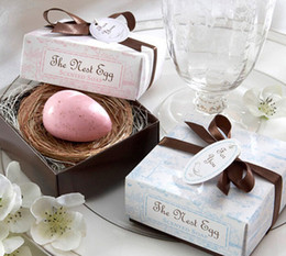 Wholesale Nest Soap - 20pcs The Nest Egg Soap For Wedding Party Birthday Souvenirs Gift Favor New