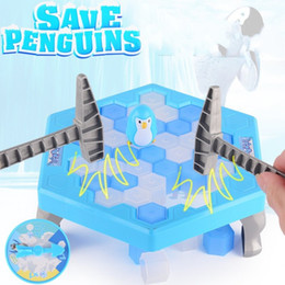 Wholesale Penguin Kids Games - Plastic Desktop Game Practical Smooth Surface Kids Education Toys Save Penguin Knock Ice Block Interactive Family Toy 6 5yz B