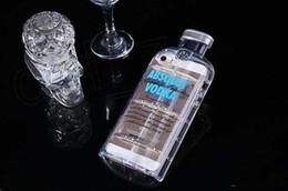 Wholesale Beer Bottle Iphone Case - 3D i6 case Transparent ABSOLUT VODKA Wine beer Bottle design TPU Phone case cover for Iphone 4 4s 5 5s 6 6 plus