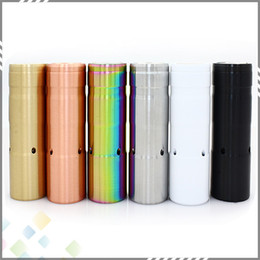Wholesale Newest E Cigarette Battery - Newest Le Petit Gros Mod 86 mm Length Mechanical Mod for 18650 Battery 6 Colors E Cigarette fit 510 RDA Atomizer Vaporizer DHL Free