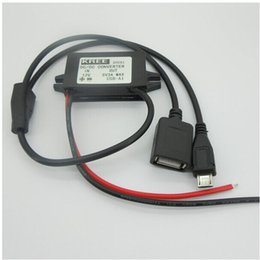Wholesale Micro Stepping - DC Converter Step-Down Module 12V to 5V micro usb and USB output power adapter for phone
