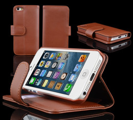 Wholesale Iphone 5c Flip Case Cover - For iPhone 6 Wallet ID Credit Card KickStand Flip PU Leather Purse Case Back Cover for Apple iphone 5 5G 5C 5S