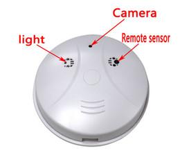 Wholesale Pinhole Hot Videos - Hot sale HD Cam Smoke Detector Security DVR Pinhole Camera Motion Detection Security Video Recorder Motion Detection frees shipping