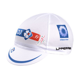 Wholesale Cheap Cycling Hats - Wholesale-2015 FDJ white cloth cap cycling hats outdoor riding hat cycling cap cycle jersey cheap sports wear bike clothing free shipping