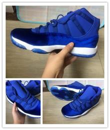 Wholesale Cheaper Basketball Shoes - Wholesale Newest 11 GS Blue Velvet 11s Sapphire Basketball Shoes Cheaper For Men Women Velvet Cheap Sneakers