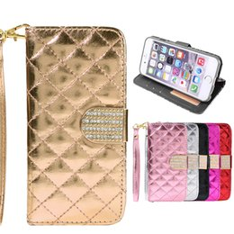 Wholesale Diamond Cases For S4 - Galaxy Note5 S6 S7 edge Luxury Diamond Rhinestones Wallet Case For iPhone 6 Plus 4 4S 5 5S SAMSUNG GALAXY S4 S5 Note5 S7 edge