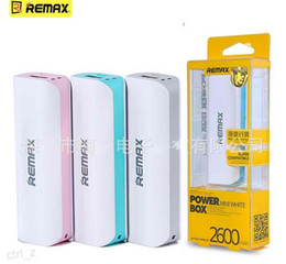 Wholesale Blackberry External Power - Remax 2600mAh Power bank 2600 Portable Power Bank External Battery Charger for iphone 6 6s Samsung galaxy Remax Brand Power Bank UPS