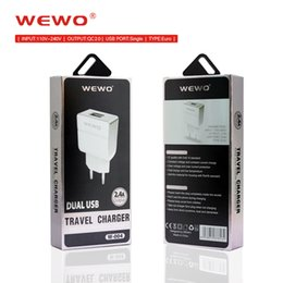 Wholesale Batteries For Blackberry Phone - WEWO Quick Charge 2.0 samsung charger EU standard plugs adapters charger usb QC2.0 portable cell phone battery charger for smartphones