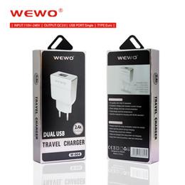 Baterías del teléfono celular de motorola online-WEWO Quick Charge 2.0 samsung cargador Cargadores estándar de la UE adaptadores cargador usb QC2.0 cargador de batería de teléfono celular portátil para teléfonos inteligentes