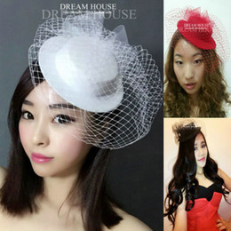 Wholesale Cheap Wedding Gowns China - In Stock Free Shipping 2017 new arrivals Bride Hats wedding party gowns hats cheap weddings hot sale in China Bridal Hair Accessories
