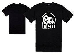 Wholesale Green Dance Shorts - new brand NEFF t shirts fashion hip hop dance t-shirt size S-5XL 100% cotton skateboard tops mens hip hop streetwear for summer